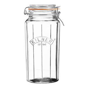 Vysoká sklenice s klipovým víčkem Kilner Faset, 1,8 l