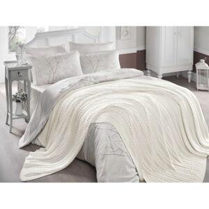 Světle krémový přehoz přes postel Hannola, 220 x 240 cm