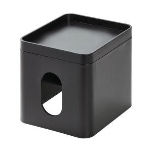 Černý box na kapesníky iDesign Cade