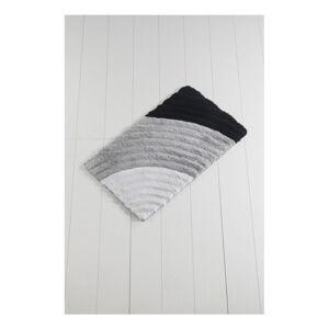 Šedá koupelnová předložka Yaprak Well, 60 x 100 cm