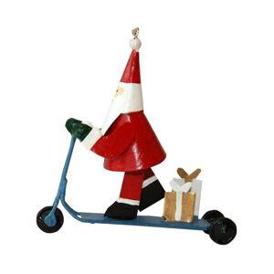 Vánoční závěsná ozdoba G-Bork Santa on Scooter