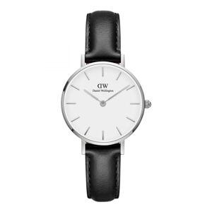 Dámské hodinky s koženým řemínkem a bílým ciferníkem s detaily stříbrné barvy Daniel Wellington Petite Sheffield, ⌀28mm