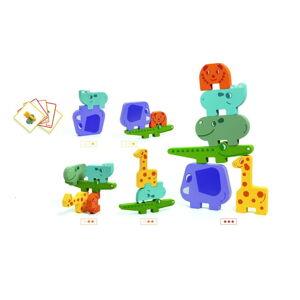 Dětské dřevěné puzzle ve tvaru zvířátek Djeco Puzzle