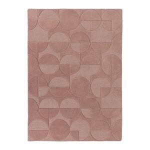 Růžový vlněný koberec Flair Rugs Gigi, 160 x 230 cm