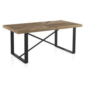 Jídelní stůl s deskou v dekoru dubového dřeva Geese Sunrays,180x90cm