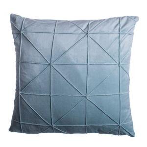 Modrý polštář JAHU Amy, 45 x 45 cm
