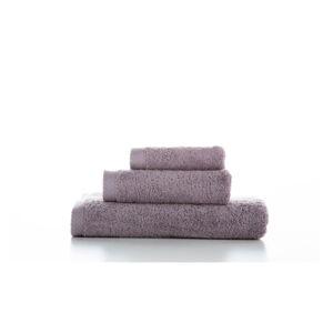 Sada 3 fialových bavlněných ručníků El Delfin Lisa Coral, 70 x 140 cm