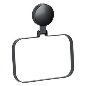 Černý nástěnný držák na ručník Wenko Static-Loc® Plus