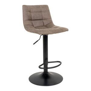 Sada 2 polstrovaných barových židlí s světle hnědým potahem House Nordic Middelfart