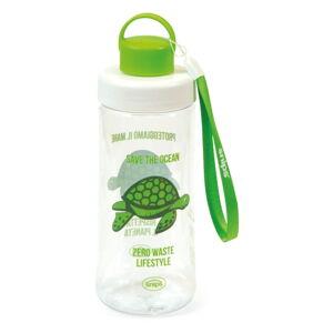 Zelená láhev na vodu Snips Turtle,500ml
