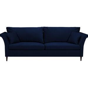 Modrá rozkládací pohovka súložným prostorem Mazzini Sofas Pivoine