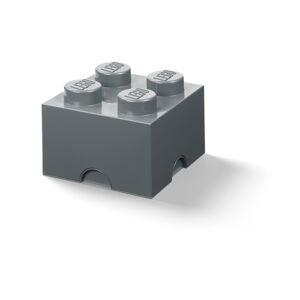 Dětský tmavě šedý úložný box LEGO® Square
