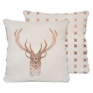 Béžový polštář Really Nice Things Deer,45x45cm