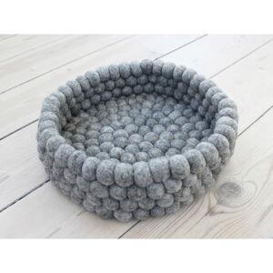 Ocelově šedý kuličkový vlněný úložný košík Wooldot Ball Basket, ⌀ 28 cm