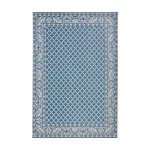 Modro-krémový venkovní koberec Bougari Royal, 160 x 230 cm