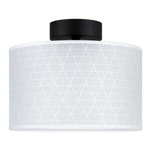 Bílé stropní svítidlo se vzorem trojúhelníků Sotto Luce Taiko,⌀25cm