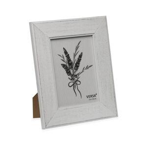 Dřevěný rámeček na fotografii Versa Madera Blanco, 13x18cm