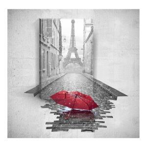 Nástěnný 3D obraz Mosticx Red Umbrella In Paris, 40 x 60 cm