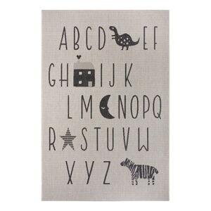 Černo-šedý dětský koberec Ragami Letters, 160 x 230 cm
