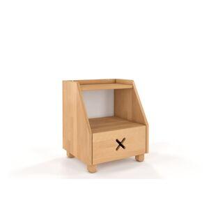 Noční stolek z bukového dřeva se zásuvkou a policí Skandica Visby Ustka