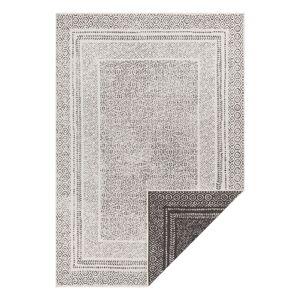 Černo-bílý venkovní koberec Ragami Berlin, 80 x 150 cm