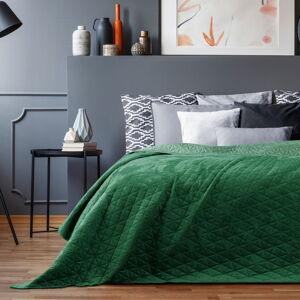 Zelený přehoz přes postel AmeliaHome Laila Jade, 220x240cm