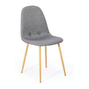Sada 2 světle šedých jídelních židlí loomi.design Lissy