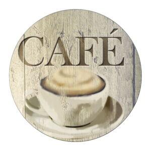 Skleněná podložka pod hrnec Wenko Café, ø 20 cm
