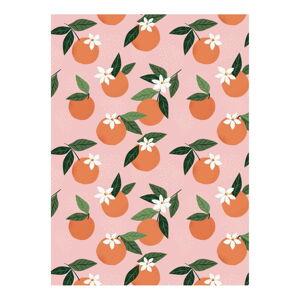 Balící papír eleanor stuart Floral No. 5 Orange