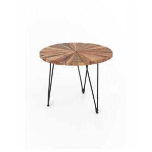 Konferenční stolek Index s železnými nohami WOOX LIVING Sun, ⌀60cm