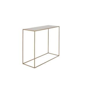 Konzolový kovový stůl ve zlaté barvě Custom Form Tensio, 100 x 35 cm