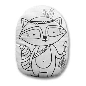 Povlak na polštář z bavlněného saténu Mr. Little Fox Fox Indian Racoon