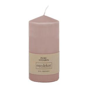 Pudrově růžová svíčka Eco candles by Ego dekor Top, doba hoření 30h