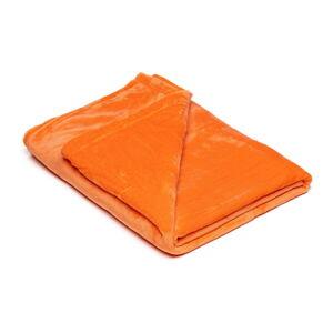 Oranžová mikroplyšová deka My House, 150 x 200 cm