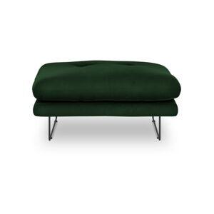 Lahvově zelený puf se sametovým potahem Windsor & Co Sofas Gravity