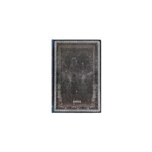 Týdenní diář na rok 2022 Paperblanks Midnight Steel, 9,5 x 14 cm