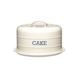Krémová plechová dóza na koláč Kitchen Craft Nostalgia,⌀28,5cm