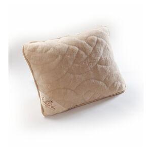 Béžový polštář z velbloudí vlny Royal Dream Camel Lines,50x60cm