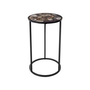 Odkládací stolek s deskou vykládanou achátem Dutchbone, ⌀ 30,5 cm