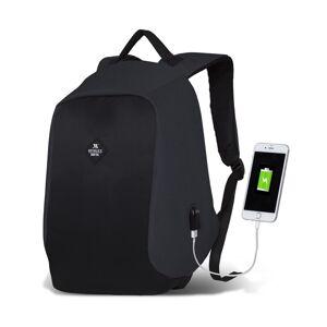 Tmavě šedo-černý batoh s USB portem My Valice SECRET Smart Bag