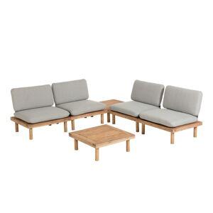 Set šedého zahradního nábytku s konstrukcí z akáciového dřeva La Forma Viridis