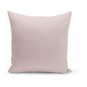 Pudrově růžový polštář s výplní Lisa, 43 x 43 cm