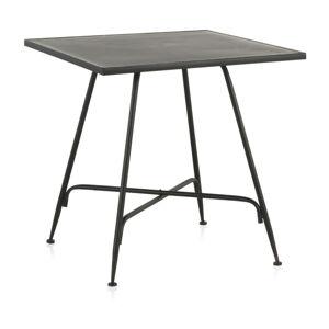 Černý kovový barový stolek Geese Industrial Style, 80 x 80 cm