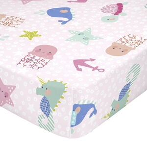 Dětské bavlněné prostěradlo Moshi Moshi Seamaid,60x120cm