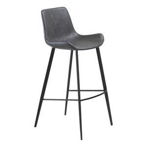 Šedá barová židle z eko kůže DAN–FORM Denmark Hype, výška 103cm