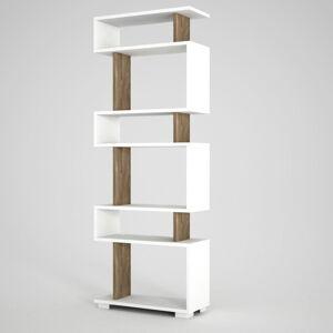 Bílo-hnědá knihovna Blok