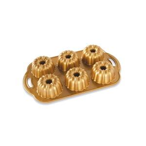 Forma na 6 mini bábovek ve zlaté barvě Nordic Ware Anniversary, 1,1 l