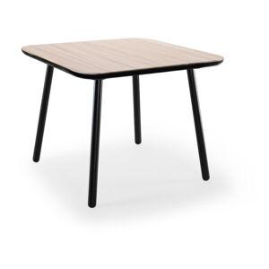 Jídelní stůl z jasanového dřeva s černými nohami EMKO Naïve