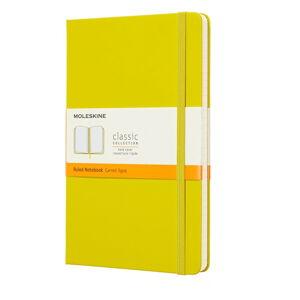 Žlutý linkovaný zápisník v pevné vazbě Moleskine, 192 stran