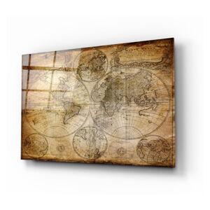 Skleněný obraz Insigne World Map,110x70cm